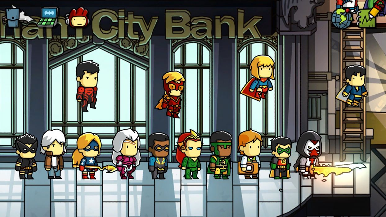 SCRIBBLENAUTS puzzle action family scrolling superhero (10) wallpaper