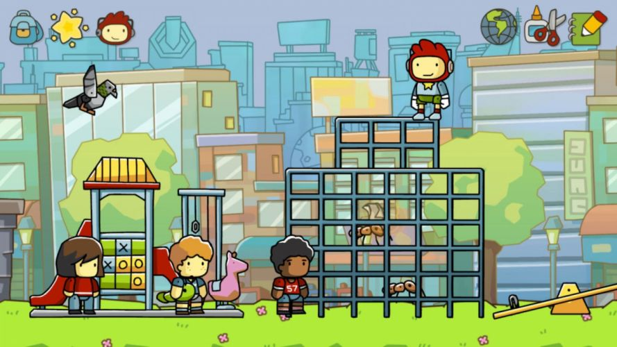 SCRIBBLENAUTS puzzle action family scrolling superhero (19) wallpaper