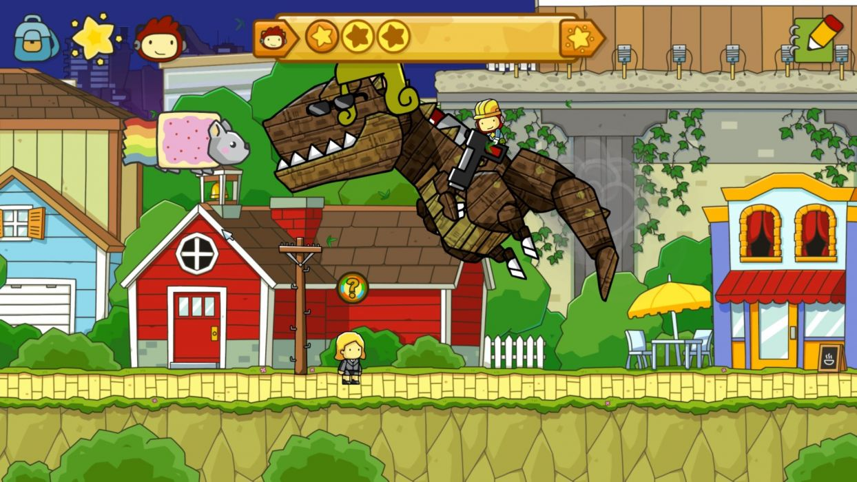 SCRIBBLENAUTS puzzle action family scrolling superhero (17) wallpaper