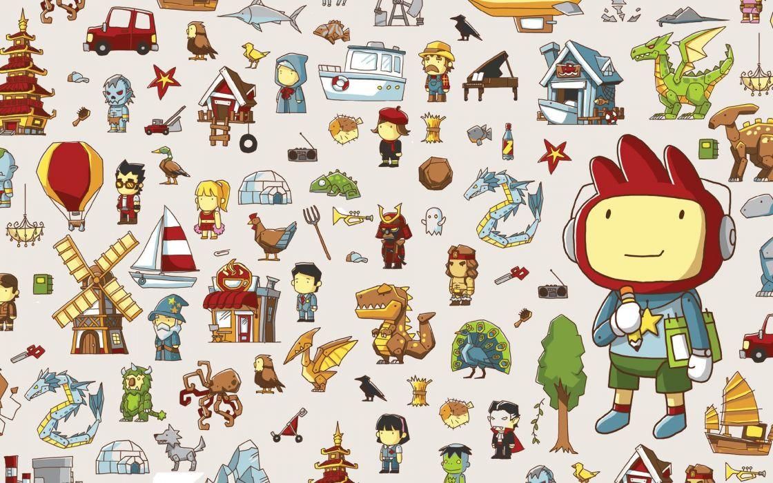 SCRIBBLENAUTS puzzle action family scrolling superhero (22) wallpaper