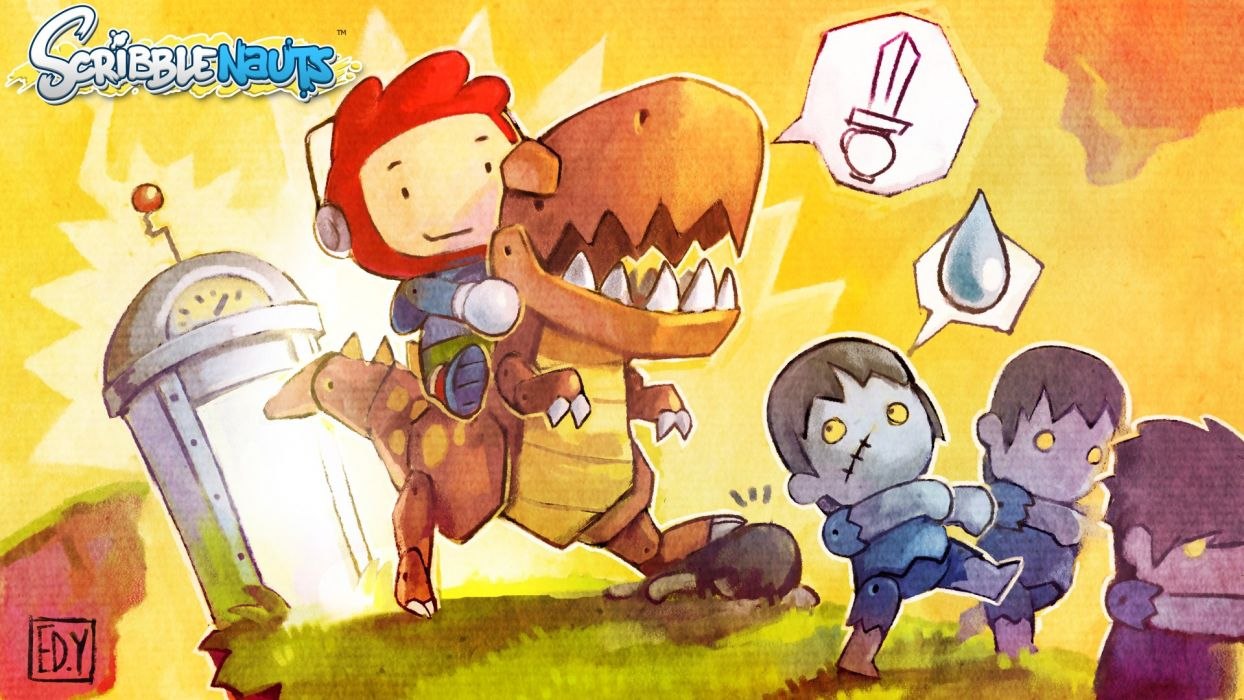 SCRIBBLENAUTS puzzle action family scrolling superhero (37) wallpaper