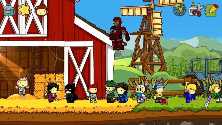 SCRIBBLENAUTS puzzle action family scrolling superhero (59) wallpaper