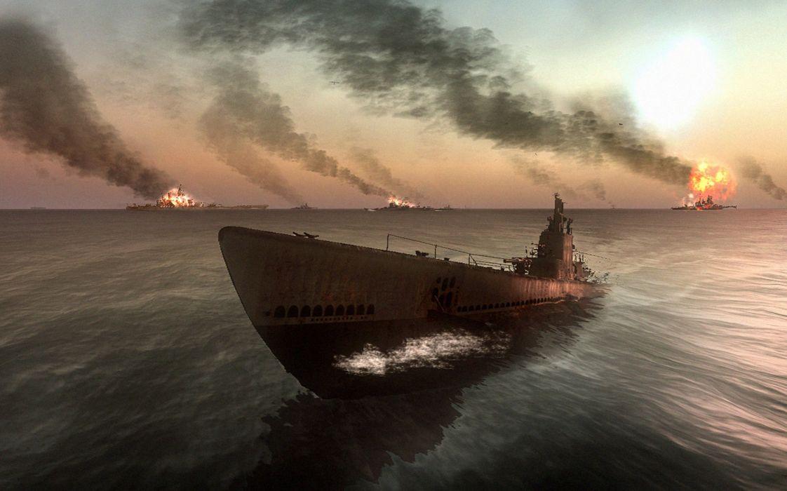 SILENT HUNTER war submarine fighting simulation military (11) wallpaper