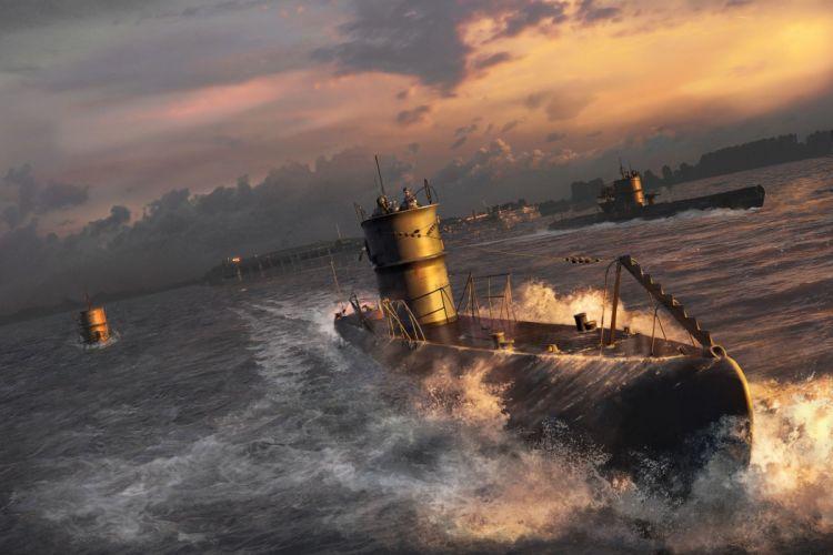 SILENT HUNTER war submarine fighting simulation military (41) wallpaper