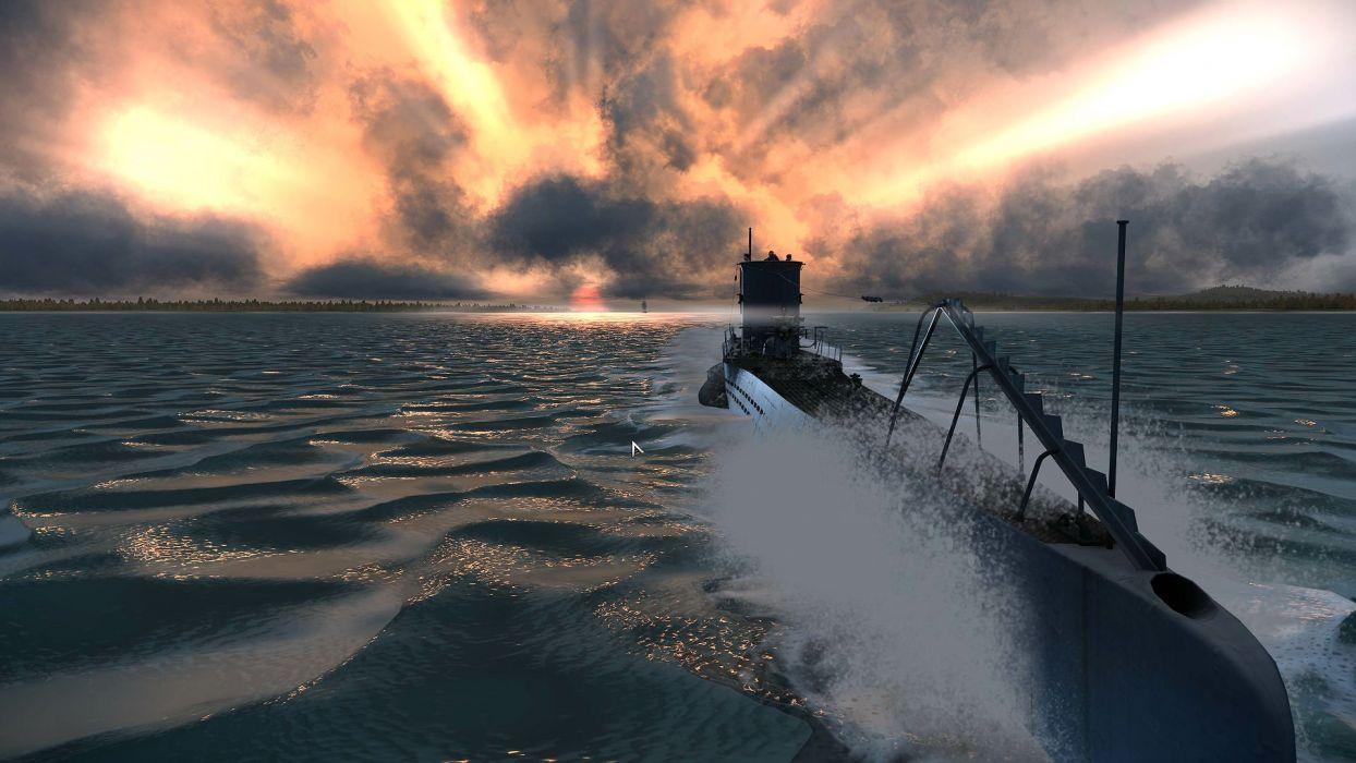 SILENT HUNTER war submarine fighting simulation military (43) wallpaper