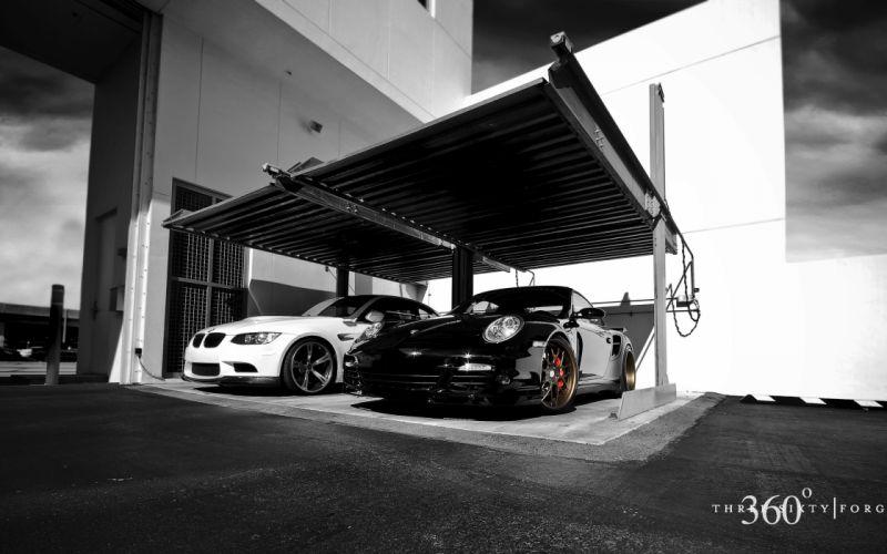 Bmw vs Porsche wallpaper