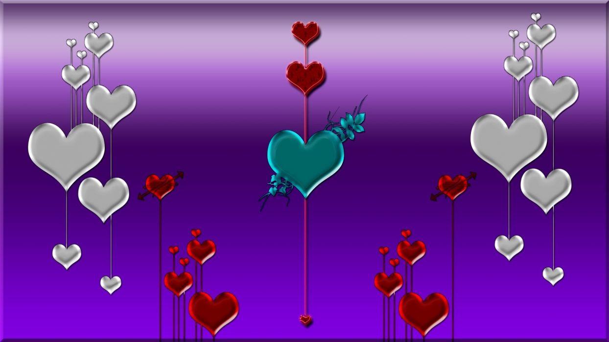 Heart love mood bokeh wallpaper