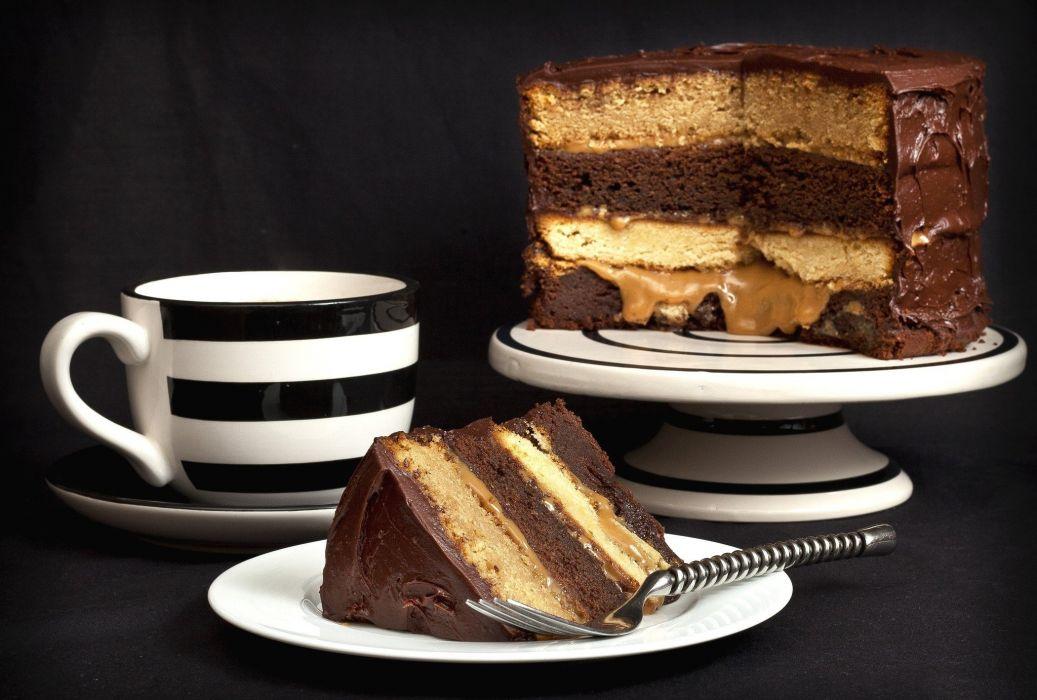 cake dessert coffe tea sweets wallpaper