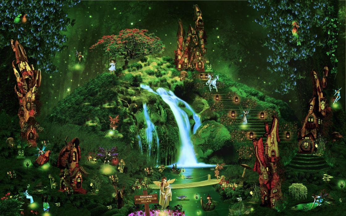 Night fantasy magic magical photoshop fairy wallpaper