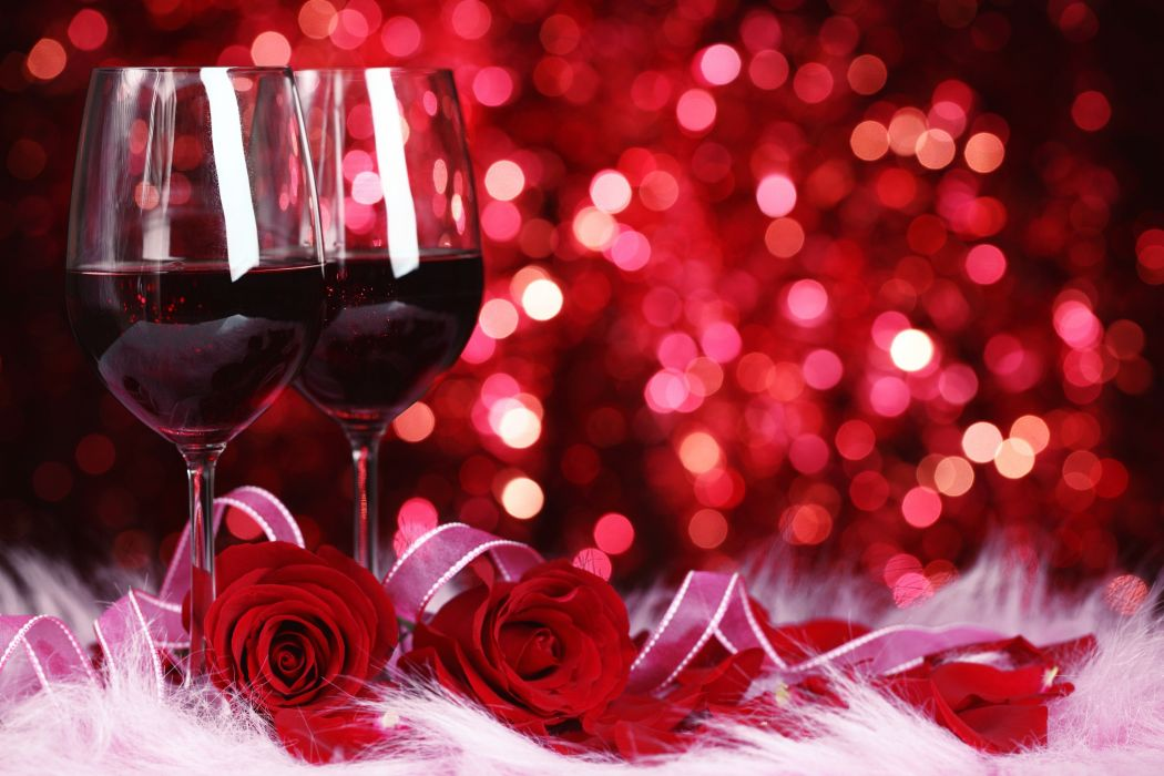 Romantic night valentines mood wine love wallpaper