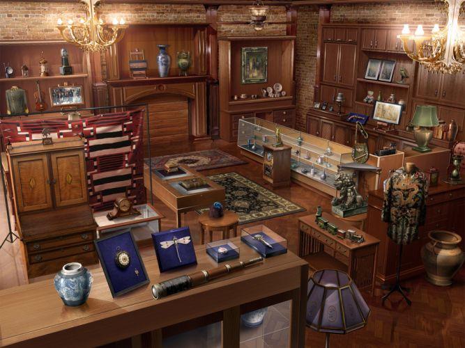 Antique Shop vintage design interior room wallpaper