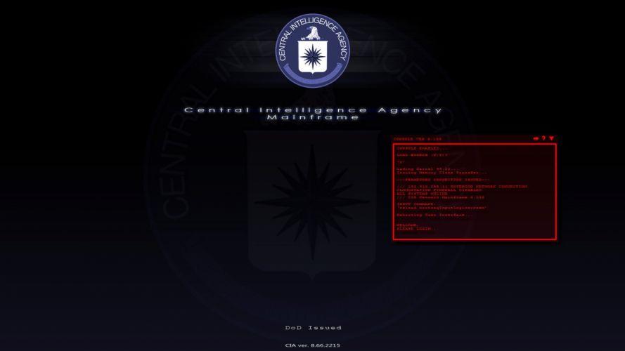 CIA Central Intelligence Agency crime usa america spy logo hacking hacker wallpaper
