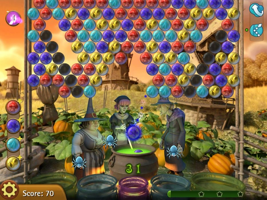 BUBBLE WITCH puzzle adventure family shooter wallpaper