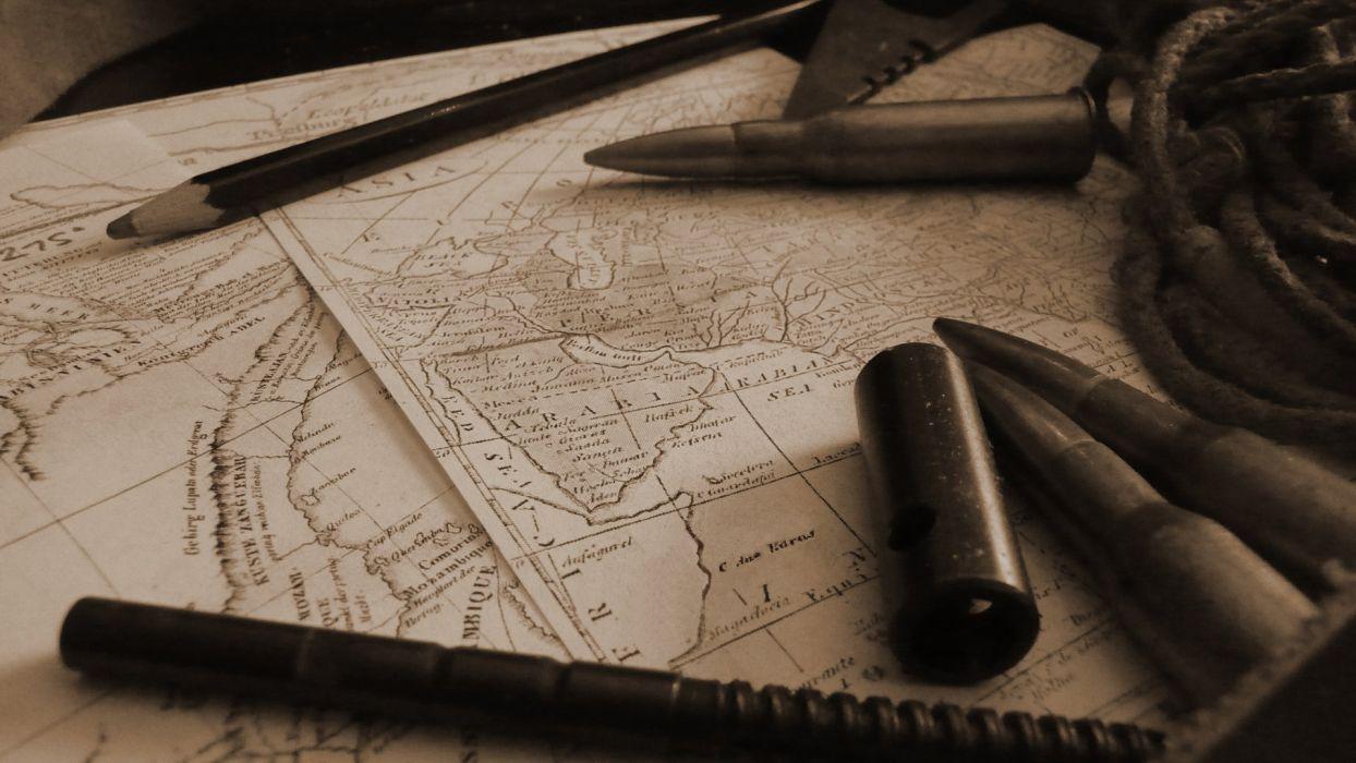 maps ammunition objects wallpaper