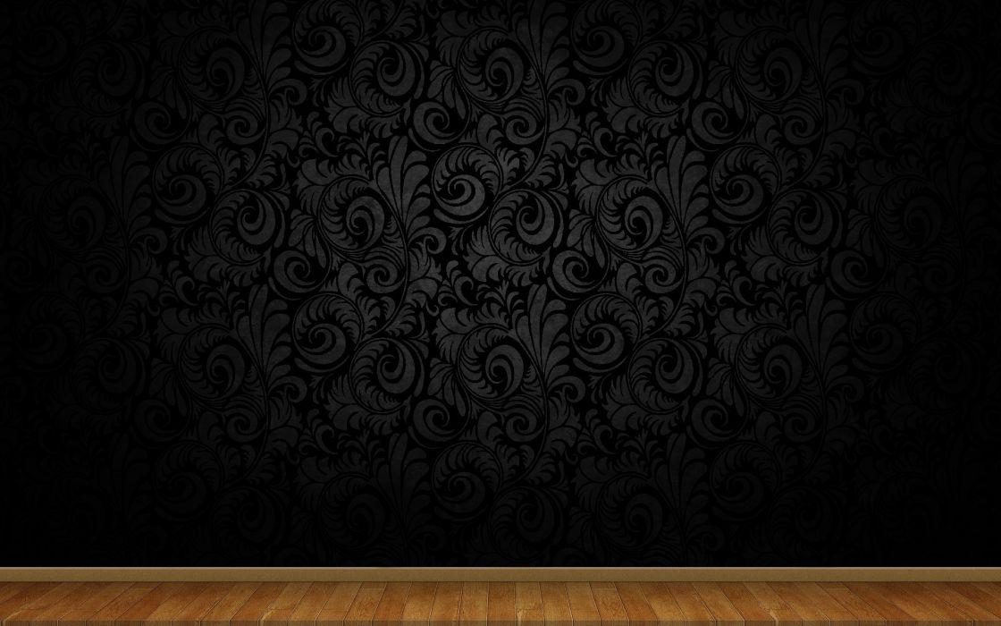 floor 3d view abstract minimalistic dark wood patterns wallpaper black b32 floor