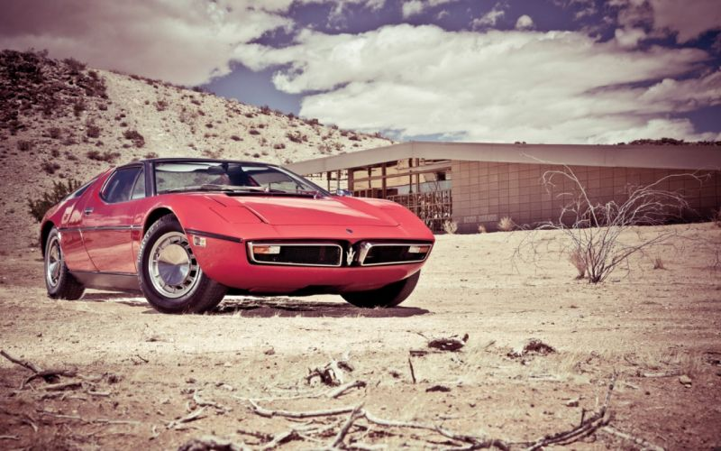 Maserati Bora Muscle Car retro classic wallpaper
