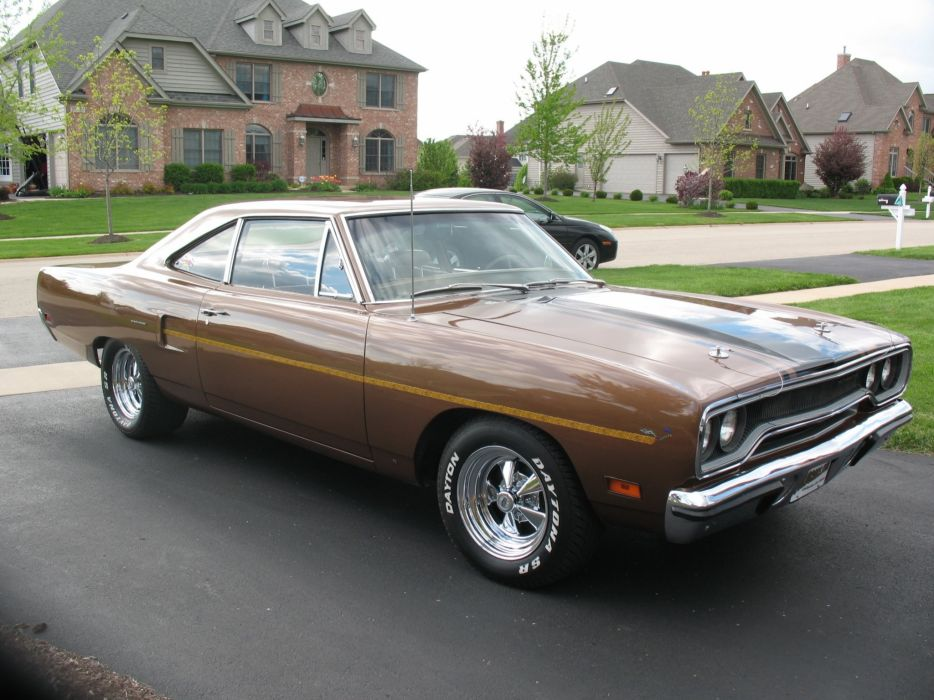 1970 Plymouth Road Runner classic retro muscle supercar wallpaper