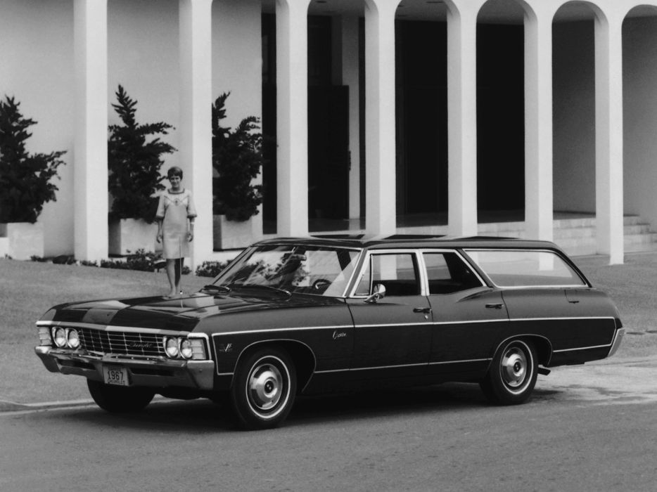 1967 Chevrolet Caprice Estate Station Wagon retro classic wallpaper