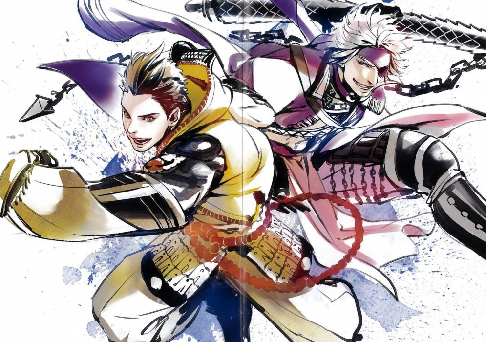 Sengoku Basara online game animation action fighting wallpaper