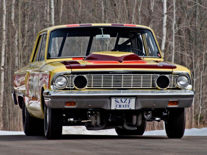 1964 Ford Fairlane Thunderbolt V-8 race racing drag hot rod rods g wallpaper