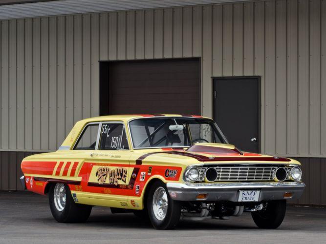 1964 Ford Fairlane Thunderbolt V-8 race racing drag hot rod rods d wallpaper
