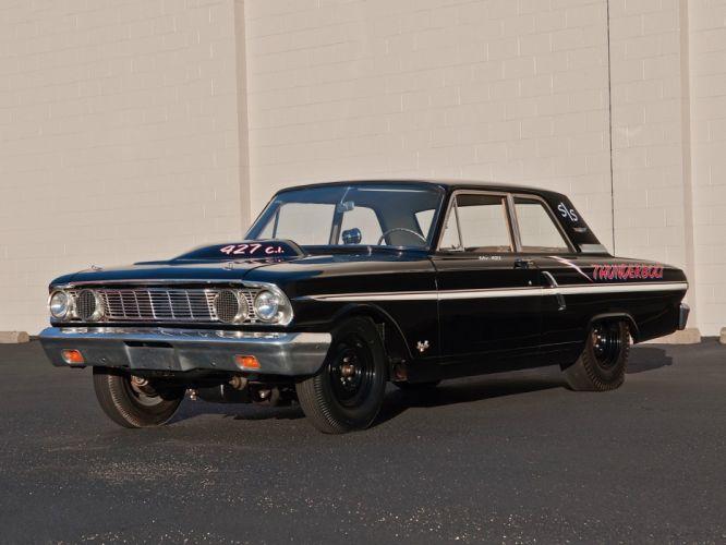 1964 Ford Fairlane Thunderbolt V-8 race racing drag hot rod rods r wallpaper