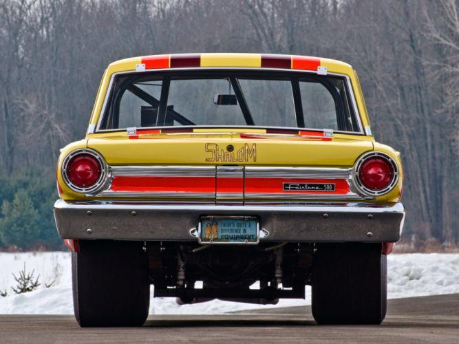 1964 Ford Fairlane Thunderbolt V-8 race racing drag hot rod rods f wallpaper