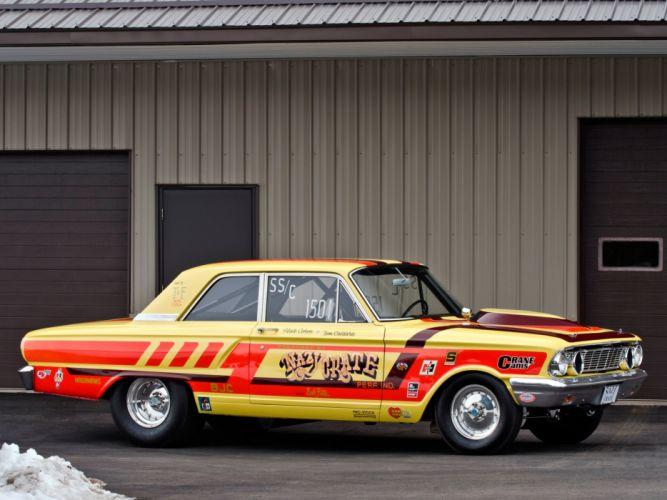 1964 Ford Fairlane Thunderbolt V-8 race racing drag hot rod rods w wallpaper