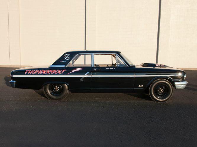 1964 Ford Fairlane Thunderbolt V-8 race racing drag hot rod rods t wallpaper