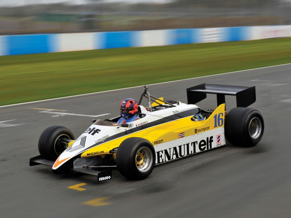 1982 Renault RE30B formula f-1 race racing g wallpaper