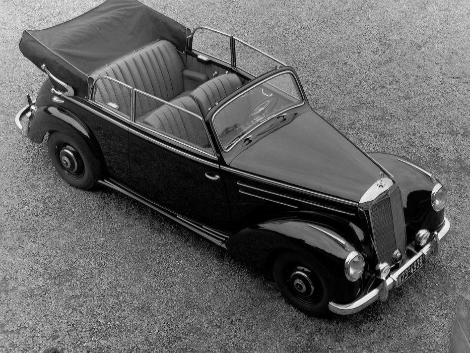 1952 Mercedes Benz 220 Cabriolet B (W187) retro luxury rw wallpaper