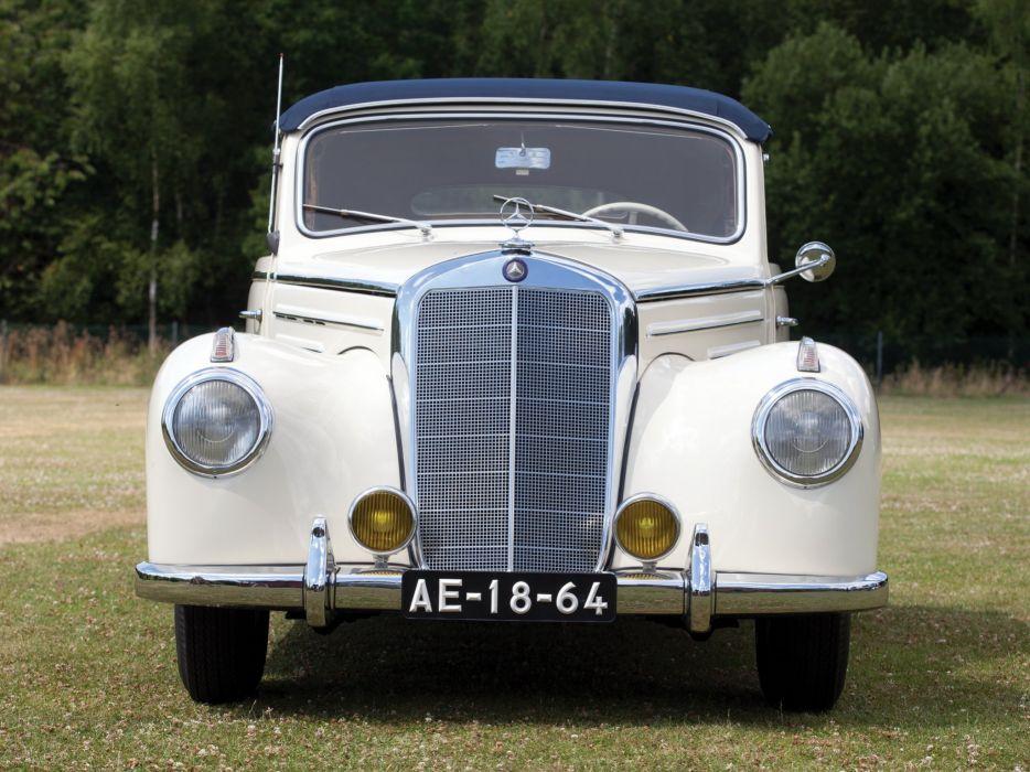 1952 Mercedes Benz 220 Cabriolet B (W187) retro luxury d wallpaper