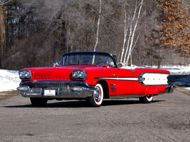 1958 Pontiac Bonneville Tri-Power Convertible (2567SD) luxury retro r wallpaper
