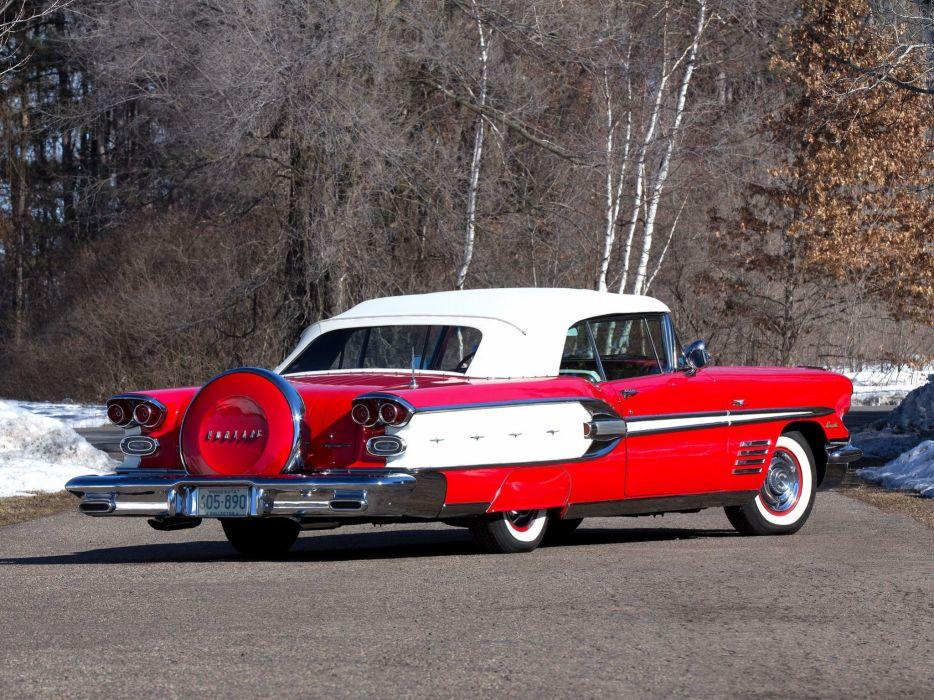 1958 Pontiac Bonneville Tri-Power Convertible (2567SD) luxury retro e wallpaper