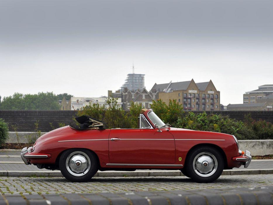 1960-62 Porsche 356B 1600 Super Cabriolet Reutter UK-Spec 356 retro g wallpaper