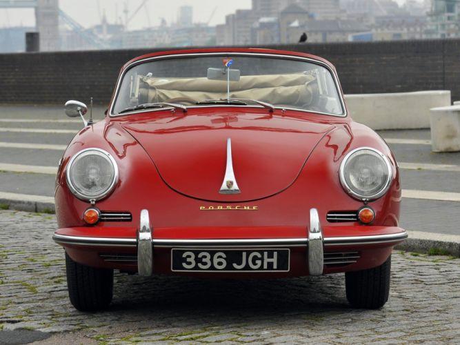 1960-62 Porsche 356B 1600 Super Cabriolet Reutter UK-Spec 356 retro hj wallpaper