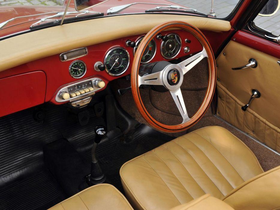 1960-62 Porsche 356B 1600 Super Cabriolet Reutter UK-Spec 356 retro hq wallpaper