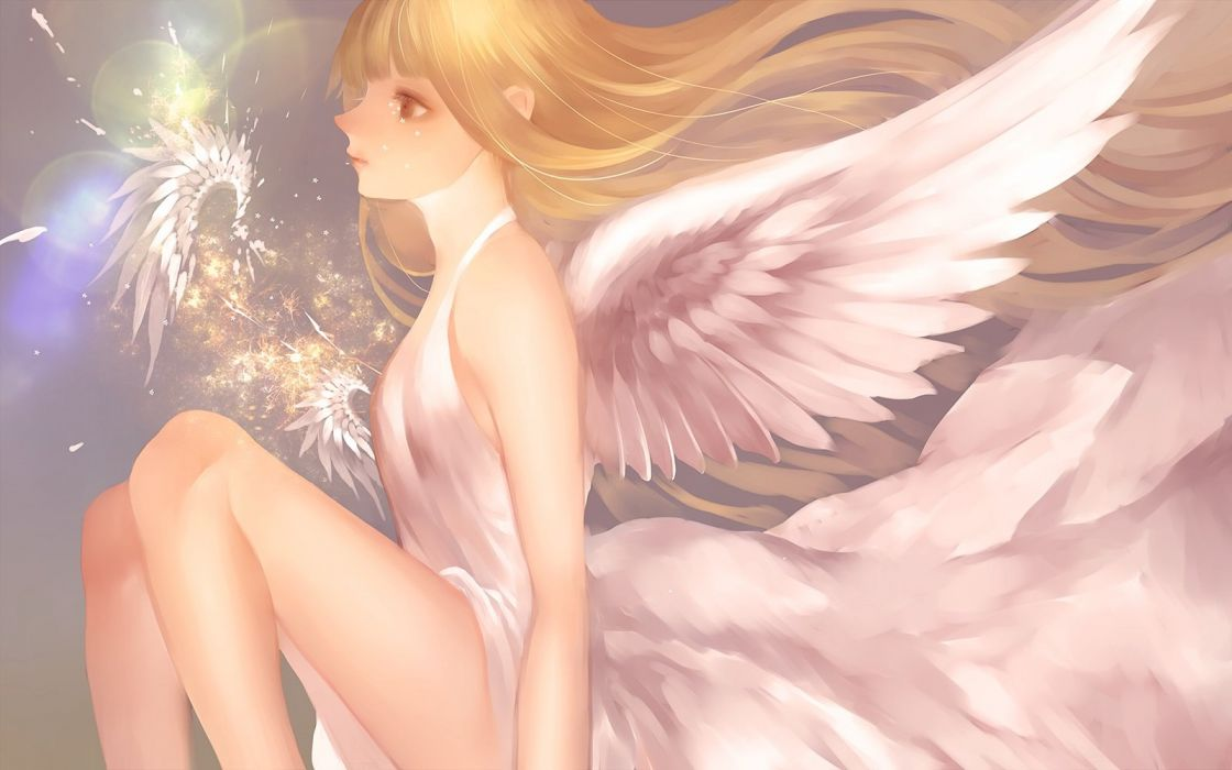 angel original wings yuuki (mnm217) wallpaper