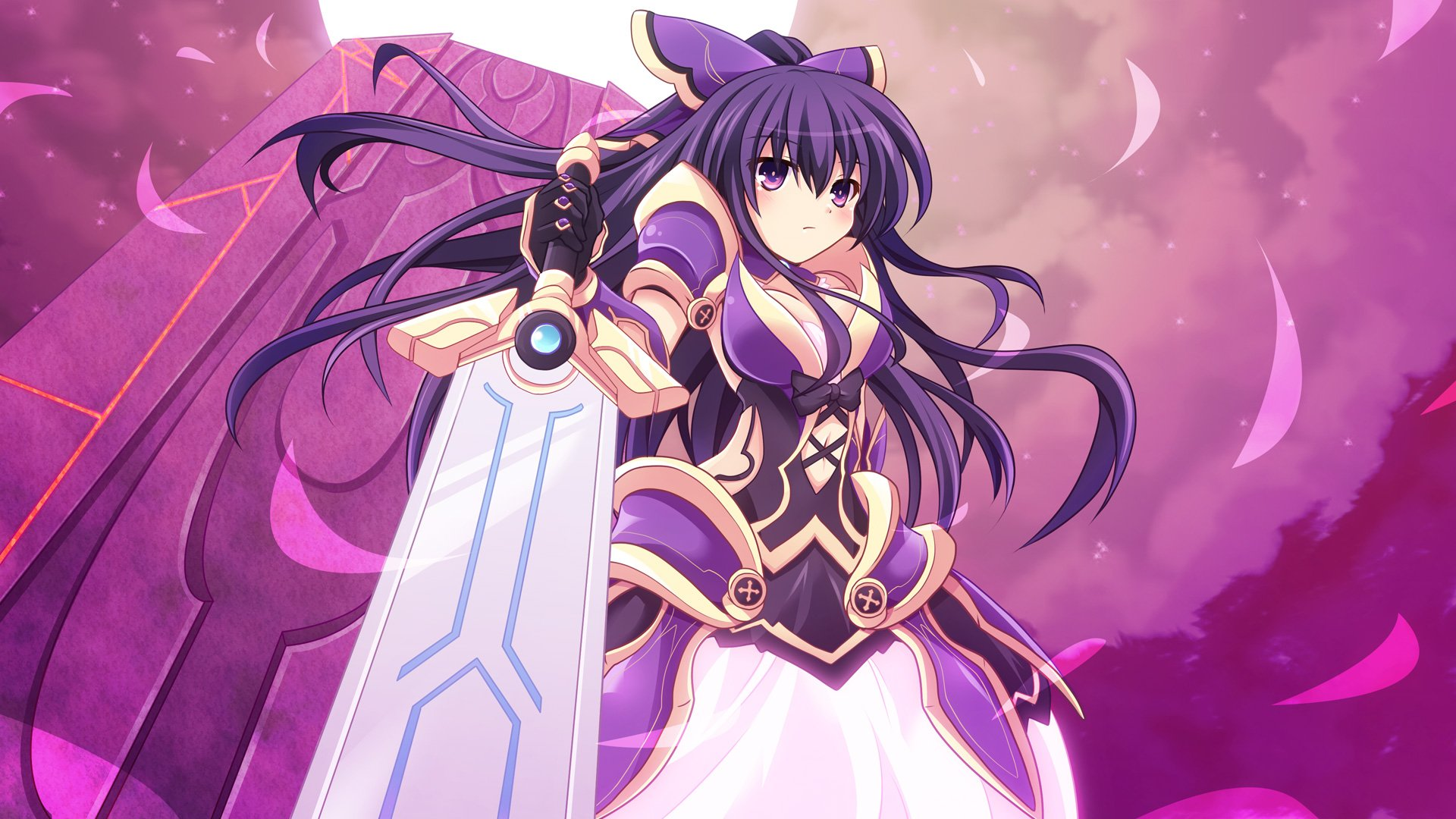 Cross (crossryou) Date A Live Long Hair Purple Eyes Purple