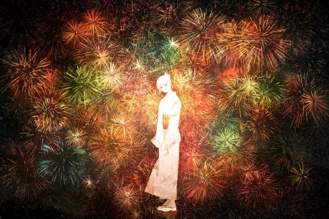 fireworks japanese clothes kimono namito original yukata wallpaper