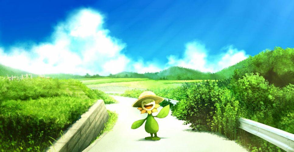 hat pokemon ribero summer sunflora wallpaper