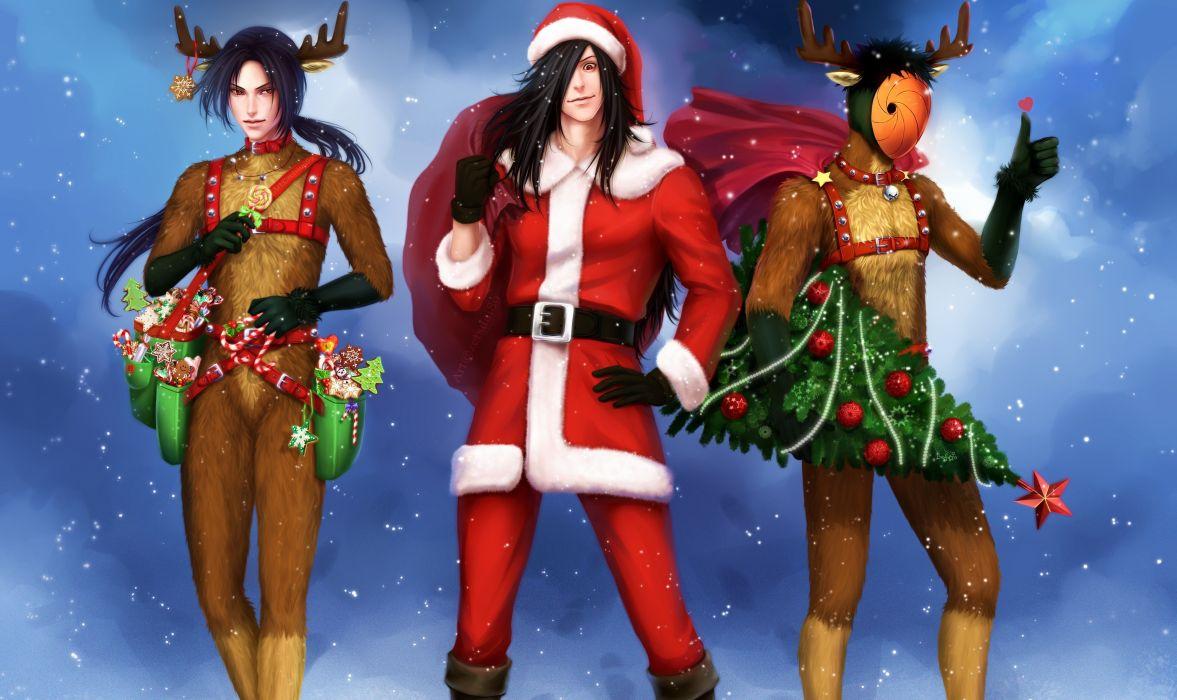 Naruto Holidays Christmas ( New year ) Guys Horns Anime g wallpaper