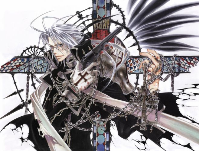 Trinity Blood Pistols abel nightroad Cross Chain Guys Anime f wallpaper