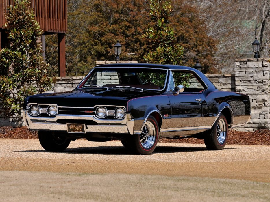 1967 Oldsmobile Cutlass 442 W30 Holiday Coupe (3817) classic muscle te wallpaper