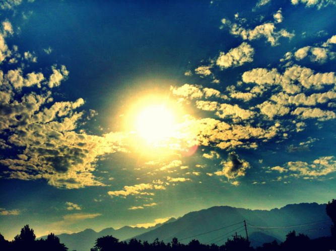 sun clouds wallpaper