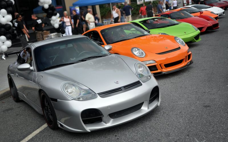 996 Carrera 997 GT3 RS LP560 Enzo Murcielago and Superleggera wallpaper