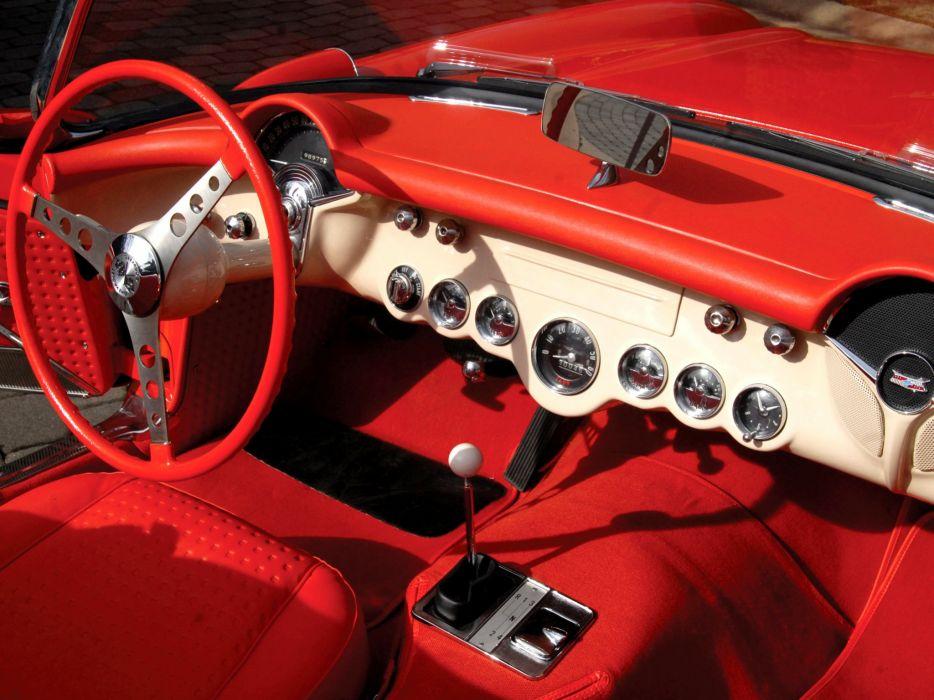 1956 Chevrolet Corvette (2934) muscle retro fa wallpaper