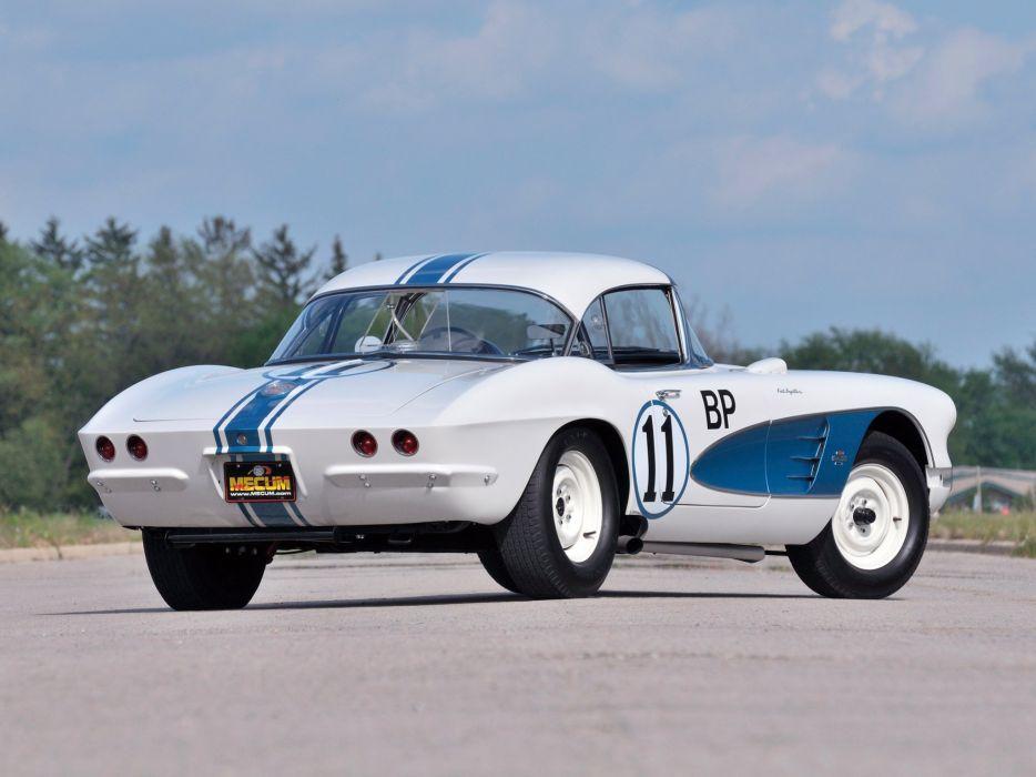 1961 Chevrolet Corvette 283 315HP Fuel Injection SCCA B-Production Race (C-1) racing muscl v wallpaper