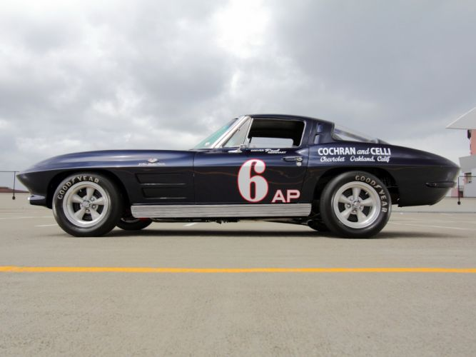 1963 Chevrolet Corvette Sting Ray Z06 Race racing (C-2) muscle classic hot rod rods dw wallpaper
