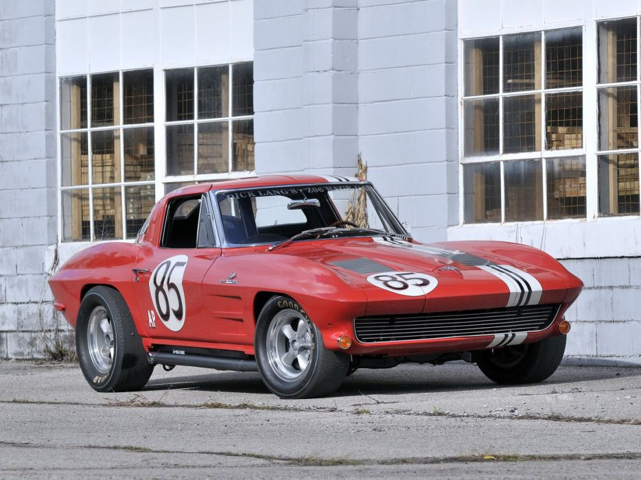 1963 Chevrolet Corvette Sting Ray Z06 Race racing (C-2) muscle classic hot rod rods f wallpaper